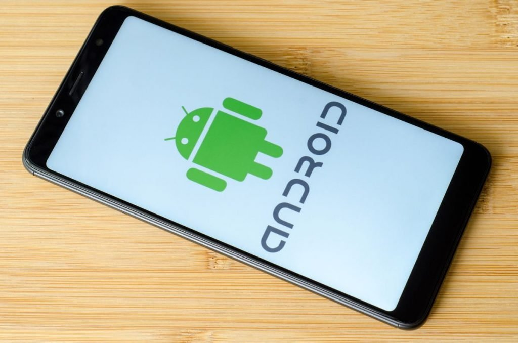 An Android Smartphone with Android Logo